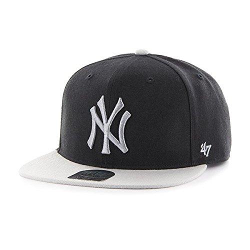 '47 Erwachsene Kappe MLB New York Yankees Sure Shot 2 Tone Captain Black/Grey