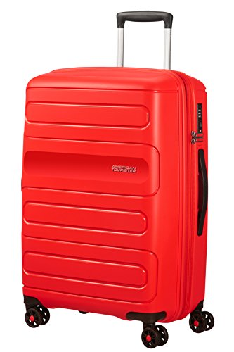 American Tourister Sunside Spinner 68 Espandibile Bagaglio a mano, 3.7 KG, 72.5/83.5L, Rosso (Sunset Red)