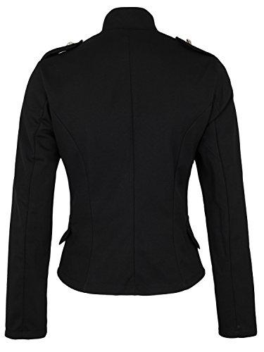 Damen Blazer Militäry Style ( 514 ) Schwarz
