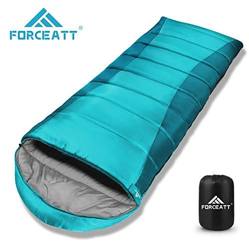 Forceatt Sac de Couchage de Camping,La Température Applicable est -10°C-15°C,3-4 Saisons,Sac de Couchage CompactImperméable et Indéchirable,pèse 1.85 kg,Convient pour la Activités D'extérieu