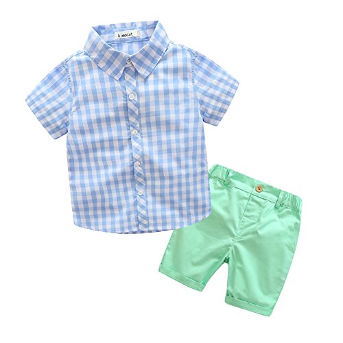 ESHOO 2-7Y Toddler Baby Boy Top+Shorts Set 2Pcs Outfit Clothes T-shirt Pants Suits
