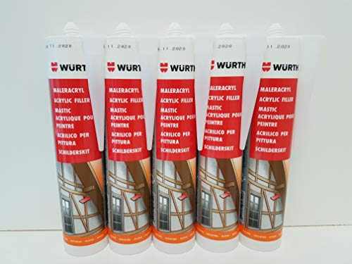 Würth Maler-Acryl 5 Kartuschen - weiß 5 * 310ml -