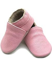 f72534b16b248 YFCH Bébé Fille Garçon Chaussures Cuir Souple Antidérapante Chaussures  Premier Pas Chausson ...