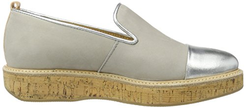 Marc O'Polo 70113843201110 Loafer, Mocassins Femme Mehrfarbig (stone/silver)