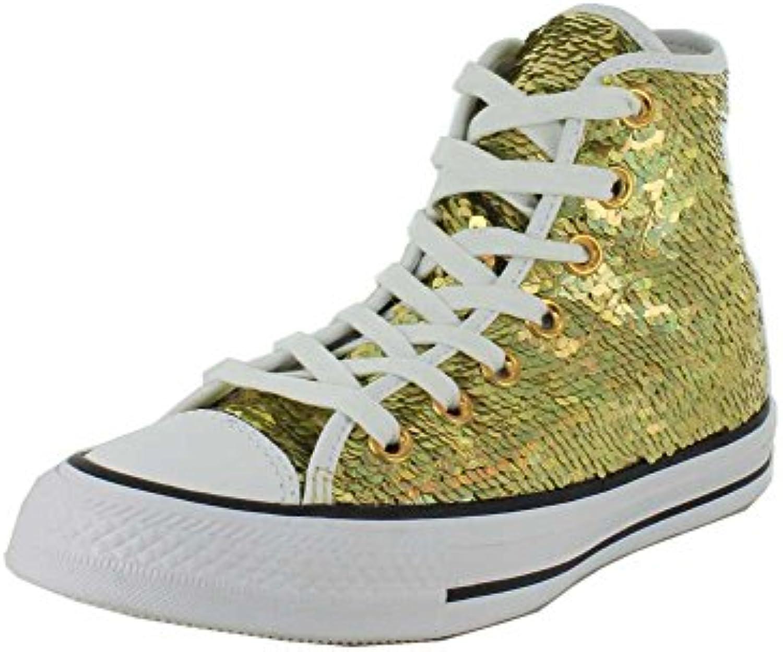 Converse All Star Hi Donna scarpe da ginnastica Metallico   Ottima qualità    Scolaro/Signora Scarpa