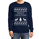 Frohe Weihnachten Rentier Weihnachtsbaum Winter Sweatshirt X-Large Marineblau
