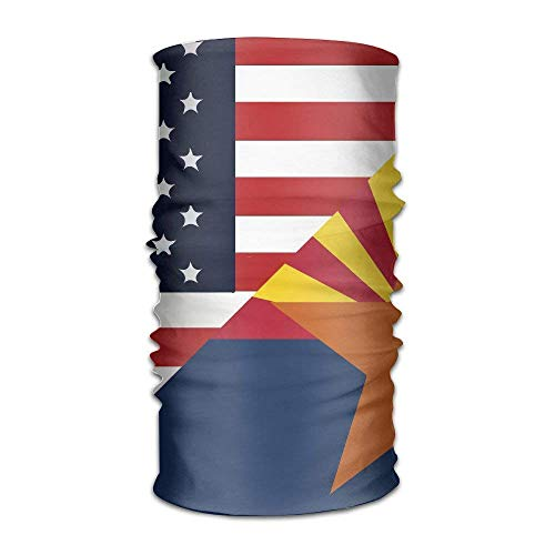 (US America Arizona State Flag Quick Dry Microfiber Headwear Outdoor Magic Bandana As Neck Gaiter Head Wrap Headband Scarf Face Mask Ultra Soft Elastic One Size)