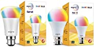 Wipro Garnet Smart Light 7W B22 LED Bulb, Compatible with Amazon Alexa & Google Assistant & WiFi Enabl