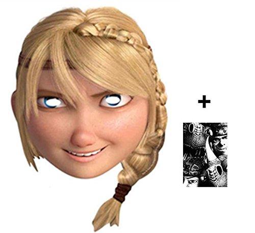 Astrid - How To Train Your Dragon 2 Karte Partei Gesichtsmasken (Maske) - Enthält 6X4 (15X10Cm) (Einfach Kostüm Astrid)