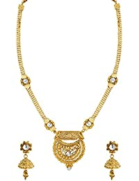 Zaveri Pearls Fine Detailed Traditional Long Necklace Set For Women - ZPFK6091