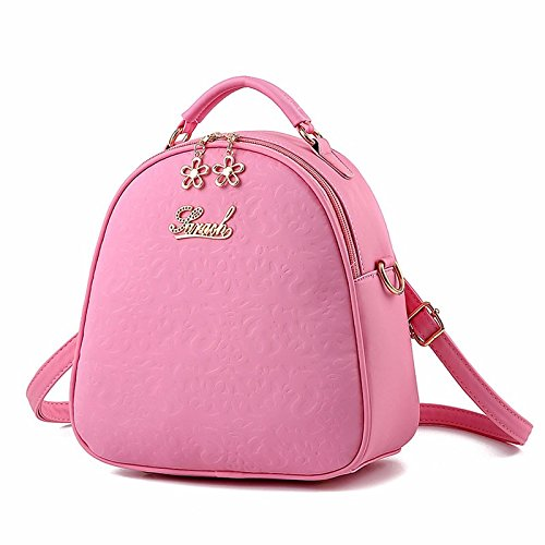 alle drei treffer multifunktionale messenger schulter mini - rucksack,grosse violette große rosa