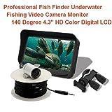 ACWZX Pesca Subacquea Dispositivo visivo, 4.3 Pollici a Colori Subacquea visivo dei Pesci Dispositivo cercatore di Pesca, a Freddo e HD Impermeabile Sistema di monitoraggio subacqueo Video Recorder
