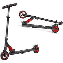 M MEGAWHEELS Monopattino Pieghevole Scooter Elettrico I-Bike da Città Pieghevole per Adulti e Bambini (Rosso)
