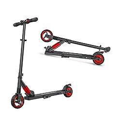 M MEGAWHEELS Elektro Scooter Klappbarer City-Roller, Tret-Roller mit 12km Langstrecken Batterie, Bis zu 23km/h, Einfach zu Falten und zu tragen Design e-Roller für Erwachsene und Kinder