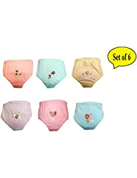Baby Bucket Soft Cotton Baby Girl's & Boy's Panties Pack of 6