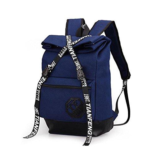 HTRPF Fashion Casual Reisetasche Reisetasche Herren und Frauen Rucksack deep blue