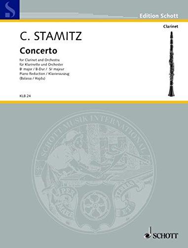 Konzert B-Dur: 2. Darmstädter Konzert. Klarinette und Orchester. Klavierauszug mit Solostimme. (Edition Schott)