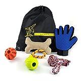 Giochi per cani - set regalo PETSFRIENDS - Guanto per cani con 4 giocattoli per cani e uno zaino portagiochi | FINANZIA I CANILI