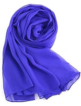 MEISHINE Elegante Mujer 100% Seda Bufanda – 180*110cm Larga Seda Fular Estola Chal Pañuelo Ideal para 4 Temporadas