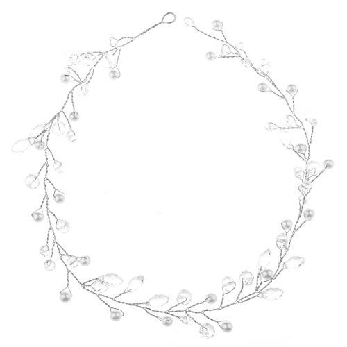 Oshide 1 Stück Haarschmuck Braut Vintage Kopfschmuck Perlen und Strass Haardraht