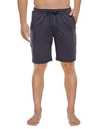 Schiesser Herren Bermuda Schlafanzughose, Grau (anthrazit 203), Small (Herstellergröße: 048) (Baumwoll-jersey Hose Lounge)
