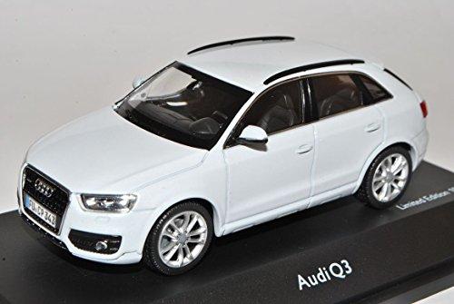 Audi-Q3-Gletscher-Weiss-Ab-2011-143-Schuco-Modell-Auto-mit-oder-ohne-individiuellem-Wunschkennzeichen