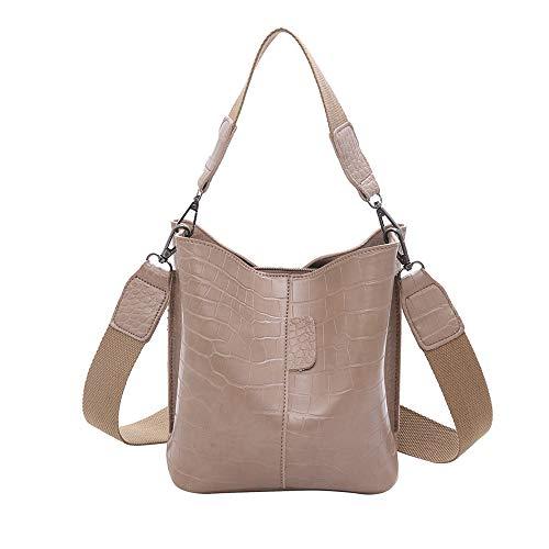 TIFIY Damen Rucksack Damenmode Alligator Haspe Pure-Color Retro Umhängetasche Bucket Bag Arbeits Täglich Bankett Elegant Tasche(Khaki) -