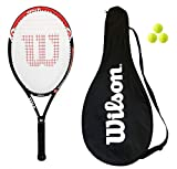 Wilson Hyper Hammer 5 Hybrid Tennis Racket + Cover + 3 Tennis Balls