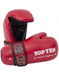 Top Ten Competición Vinilo Semicontacto Guantes - Rojo - X-Large