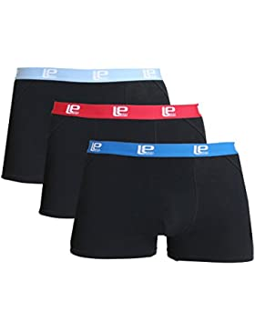 Lower East Herren Boxershorts Retro, in Verschiedenen Farben 3er Pack