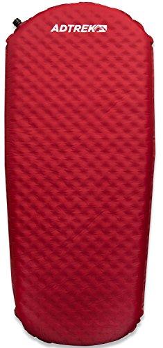 Adtrek Selbstaufblasbare Isomatte/Matratze für Camping - Für 1 Person - 3/4-Länge - Rot