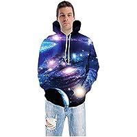 TING Planeta Digital 3D la Impresion de Gran tamaño de Sweater Coat Capucha Amantes Uniforme de béisbol,XL