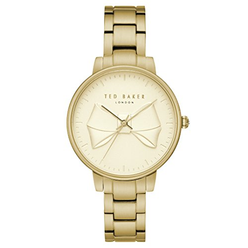 Ted Baker Womans Brook Gold Bow Dial PVD Plated Stainless Steel TE15197003