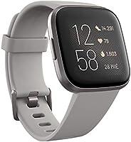 Fitbit Versa 2, Smartwatch con control por voz, puntuación del sueño y música, batería de +4 días