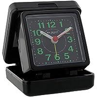 Wm Widdop Quartz Travel Alarm - Black case/dial