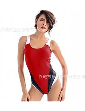 Doble seguro _ bañadores de adelgazamiento. Siameses seguridad fina ropa de baño de adelgazamiento de la cintura...