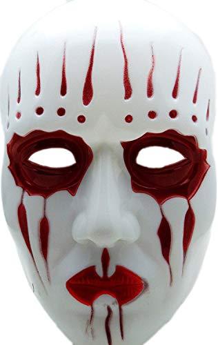 lipknot | Maskierung für Kinder und Erwachsene | Perfekt für Fasching & Karneval | rot weiß | Einheitsgröße | ()