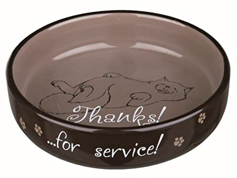 Cat bowl for short-nosed breeds, ceramic, 0.3 l/ø 15 cm *Colour sent as RANDOM*