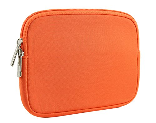 Emartbuy® 8 Inch Tablet Orange Water Resistant Neoprene Soft Zip Case Cover Sleeve For Nuvision TM800P610L 8 Inch Windows Tablet  available at amazon for Rs.599