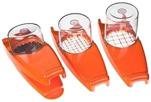 Genius Nicer Dicer 33097 Affettaverdure 7 pezzi colore: Arancione