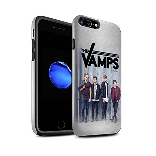 Offiziell The Vamps Hülle / Glanz Harten Stoßfest Case für Apple iPhone 7 Plus / Holz-Effekt Muster / The Vamps Fotoshoot Kollektion Gebürstetes