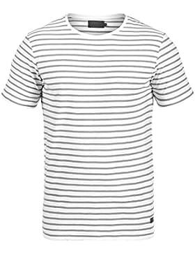 PRODUKT Luis Herren T-Shirt Kurzarm Shirt in moderner Streifen-Optik aus hochwertiger Baumwolle mit Rundhals-Ausschnitt