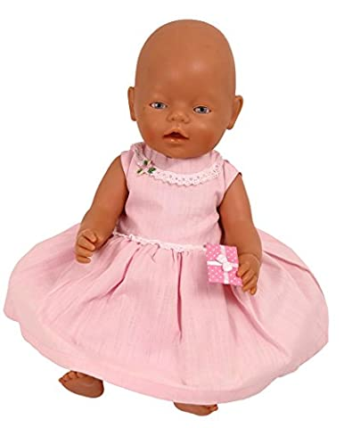 FRILLY LILY PINK PARTY DRESS FOR CABBAGE PATCH KIDS DOLLS