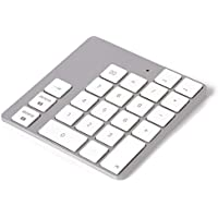 LMP WKP-1644 - Teclado con Bluetooth, Color Aluminio y Blanco