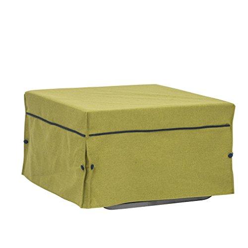 Tuoni morfeo spigato pouf letto, tessuto in cotone, metallo satinato, verde