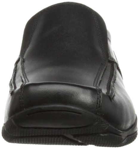 Hush Puppies Bespoke Senior, Mocassins garçon Noir (Black)