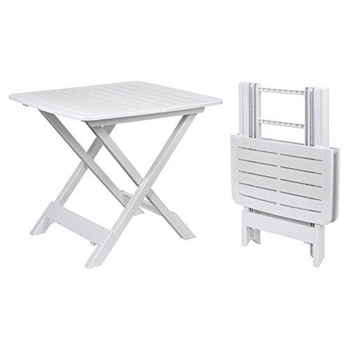 Kunststoff Beistelltisch kleiner Klapptisch Gartentisch Tisch Camping Weiß