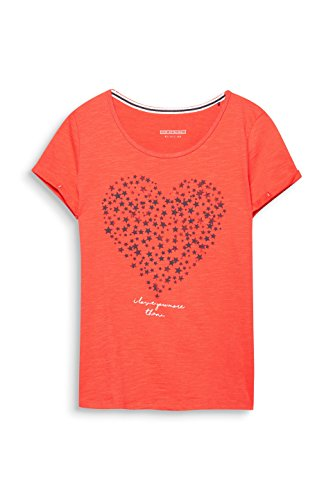 edc by Esprit, Maglia a Maniche Lunghe Donna Arancione (Red Orange 825)
