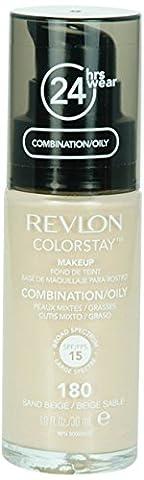 REVLON Fond de Teint Colorstay Peaux Mixtes à Grasses N° 180 Sand Beige - 30 ml