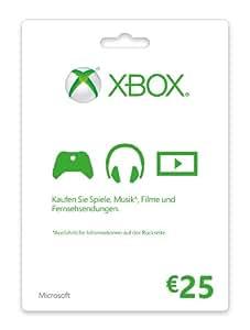 Xbox Live - 25 Euro Guthabenkarte